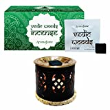 Aromafume Vedic Woods Incense Bricks (Small) & Palace Exotic Incense Diffuser