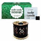 Aromafume Vedic Woods Incense Bricks (Small) & Palace Exotic Incense Diffuser
