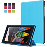 Lenovo Tab3 7 Essential Funda - WindTeco Ultra Delgado y Ligero Smart Case Funda Carcasa con Soporte Función para Lenovo Tab3 7 Essential 7 Pulgadas Tablet 2016 Release (NO para Tablet Lenovo Tab3 7)