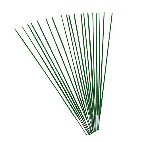 Rosenice - Stützstäbe für Blumen, Grün, 40 cm, 50 Stück