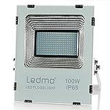 LEDMO 100W Lumières d'inondation de LED, étanche IP65 pour extérieur Projecteur led , lumière du jour blanc, 2700K, 10000lm, 500W Equivalent halogène, lumières de sécurité,Lumière d'inondation