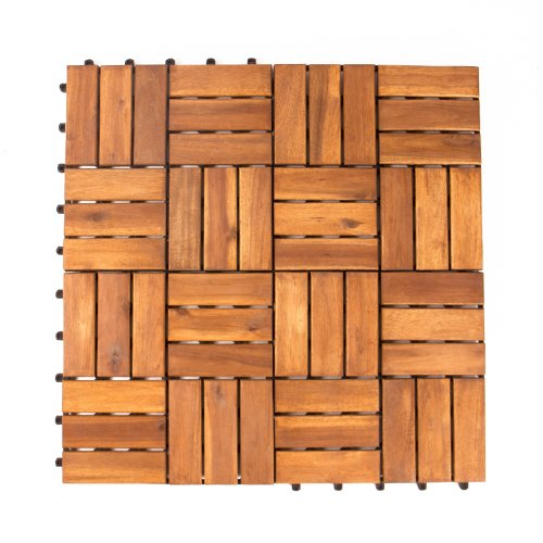 Image of Vanage Wooden Tiles, 9-Piece Set, Acacia Wood, Approx. 30 x 30 x 2,4 cm, Edge