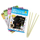 Tavolo da disegno Exing creative DIY Draw sketch notes for Kid Toy notebook scratch note in cartone nero