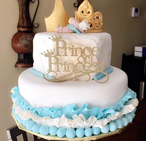 Monsety Prinz oder Prinzessin Baby Sprinkle Baby Shower Geschlecht Enthüllt Jede Farbe Lustige Tortenaufsatz Hochzeit Dekoration Party Gastgeschenk für Frauen Herren