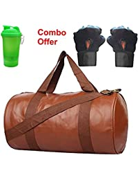 SKYSONS Gym Bag Combo Set Enclosed With Soft Leather Gym Bag For Men And Women For Fitness - Bag Size 49cm X 24cm... - B07DXP4XMK
