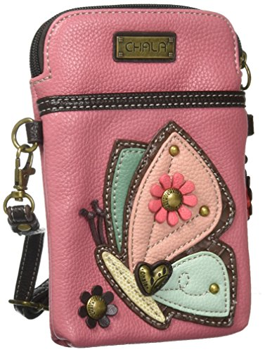 f47078d905983 Chala Crossbody teléfono celular purse-women Multicolor de piel sintética  bolso de mano con correa ajustable