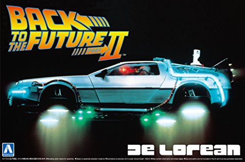 DeLorean DMC 12 Back to the Future 2 in 1:24 Model Kit Bausatz Aoshima 011867