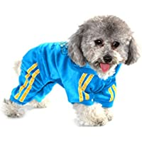 ranphy mascotas ropa para perros mono con corona de terciopelo suave perchero de pared de cachorro de perro pijama de perro trajes Hooide para perros gatos