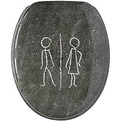 Gelco Design 703767 - Tapa para WC, diseño de pizarra