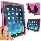 Coque Protection Robuste Antichoc Robuste pour téléphones et tablettes - Rose vif, Apple iPad Air