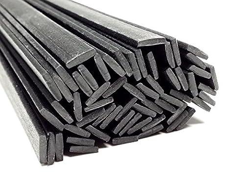 Plastique baguettes de soudure PP/EPDM Noir 8x2mm Plat 25 Barres