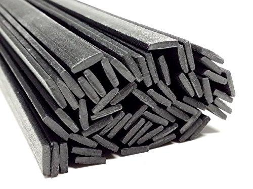 Preisvergleich Produktbild Kunststoffschweißdraht PP/EPDM 8x2mm Flach Schwarz 25 Stäbe