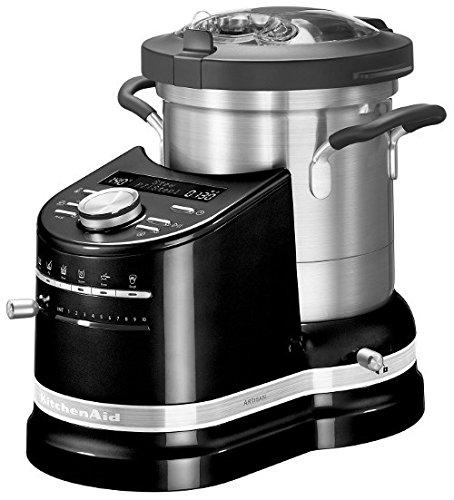 KITCHENAID 5KCF0103EOB/4 Artisan, Küchenmaschine mit Kochfunktion, 1500 Watt, Onyxschwarz