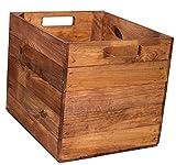 Vinterior 4er Set HOLZKISTE Used FÜR KALLAX Regale, Obstkiste, Regalkiste,Aufbewahrungsbox Box Apfelkiste Obstkiste Weinkiste Regaleinsatz Expedit