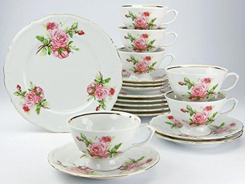 Creatable 16034 Serie Maria Theresia Rosen, Kaffeeservice, Porzellan, Mehrfarbig, 34 x 28.3 x 25.5...