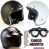 VIPER RS-05 CASCO ABIERTO DELGADO MOTOCICLETA VESPA SCOOTER JET RETRO NUEVO MODELO (XL (61-62 cm),...