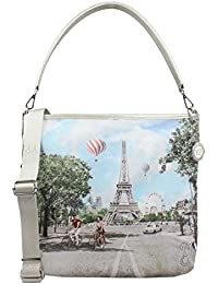 BORSA DONNA Y NOT  HOBO BAG CON TRACOLLA CHAMP ELYSEES INSTANT J-349 4d7160251cc