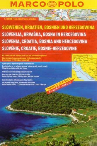 Slovenia/Croatia/Bosnia Marco Polo Atlas: 1 (Marco Polo Atlases (Multilingual)) por Marco Polo