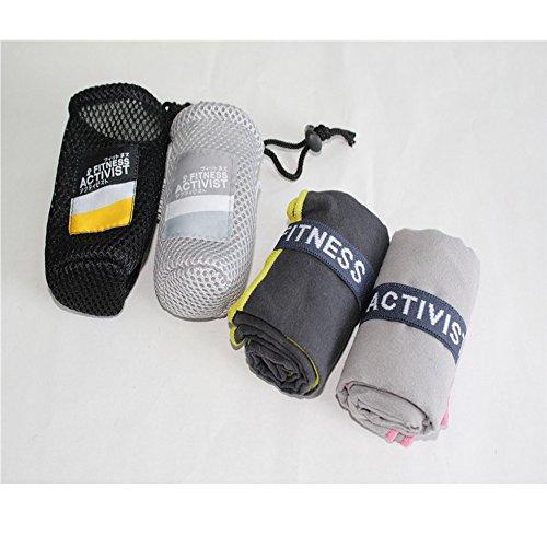 Amandy Schnell Schnell Trocknend Handtuch Gym Sport Reise Camping Mikrofasertuch mit Netzbeutel Für Outdoor Sport Handtücher 150 * 75 cm Zufällige Farbe