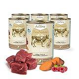 AniForte Katzenfutter Best Beef 6 x 400g für Katzen, Nassfutter Ohne künstliche Vitamine und Chemische Zusätze