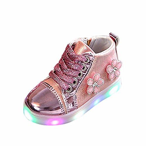 2c6e4c6826e83 Bottines Fille Enfant ☂☃ Enfants bébé Filles LED Bottes Lumineuses Sport  Chaussures Arc Cristal Animation