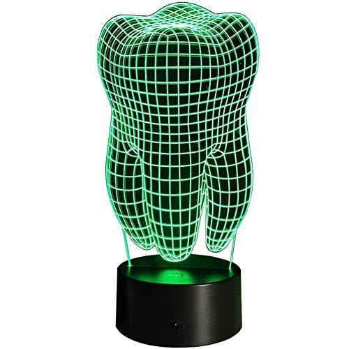 Kreative 3D Zähne Nacht Licht 7 Farben Andern Sich USB Adapter Touch Schalter Dekor Lampe Optische Täuschung Lampe LED Lampe Tisch Kinder Brithday Weihnachten Geschenke -