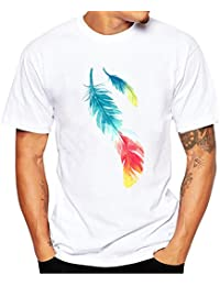 ZODOF Hombres Verano Moda Causal Hombres ImpresióN Camisetas Camiseta Manga Corta T Camisa Blusa Camisetas para Hombres…