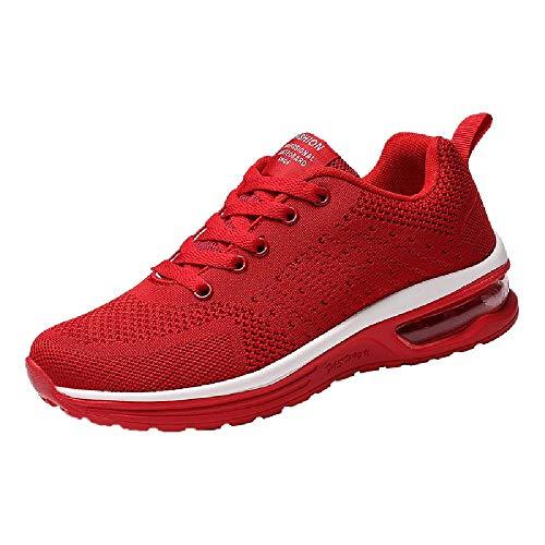 Logobeing Zapatillas de Deporte con Cojines de Aire Calzado de Running Net para Estudiante Volar Zapatos...