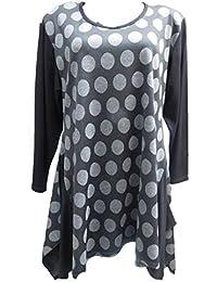 1c097221c751 Tunika Shirt Lonshirt weit Gr. 42,44,46,48, schwarz grau