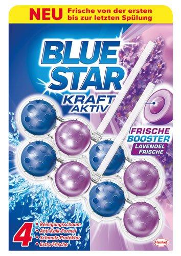 Blue Star 10x Kraft-Aktiv Lavendel Frische Duopack, WC-Einhänger