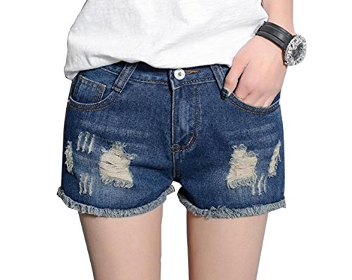 Doufine Womens Slim Hot Ripped Vintage Mini Push up Simplicity Shorts Jeans