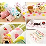 #6: Generic Anti Slip 300Cm Kitchen Cupboard Liners Mat Roll Drawer Liner Table Pat #01