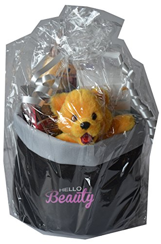Beauty & Pflegeset 6tlg. Inhalt: Teddybär, natuderm botanics Pflegeshampoo ginkgo + weizenprotein 200ml, Schauma Honig Créme Shampoo 400ml, Olaz Regenerist Tagescreme 50ml, Aveo Deospray 75ml und Kosmetiktasche