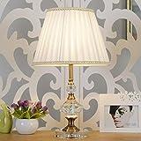 Manuelle Cristal Nachttischlampe mit runden Stoff Lampenschirm Dekorative Tischlampe für Schlafzimmer Baby Zimmer