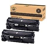 CMYBabee 2-Pack Replacement pour HP CF283A 83A Noir Tout neuf Haut rendement Cartouches de toner (2 Noir) Compatible pour HP Laserjet Pro M201dw M201n M202dw M202n MFP M125a M125nw M125rnw M125m M126a M126nw M127fn M127fp M127fw M128fn M128fp M128fw M225dn M225dw Imprimante