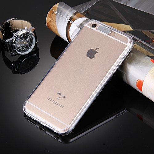 Phone case & Hülle Für iPhone 6 / 6s, Slide Slice Design Abnehmbare Kunststoff Stoßfänger Flamme Transparent TPU Schutzhülle mit eingehenden Anruf LED Blinklicht ( Color : Silver ) Silver