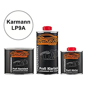 2K Autolack Set: Dose Karmann LP9A Weiss Basislack + 2K Klarlack 1,25L