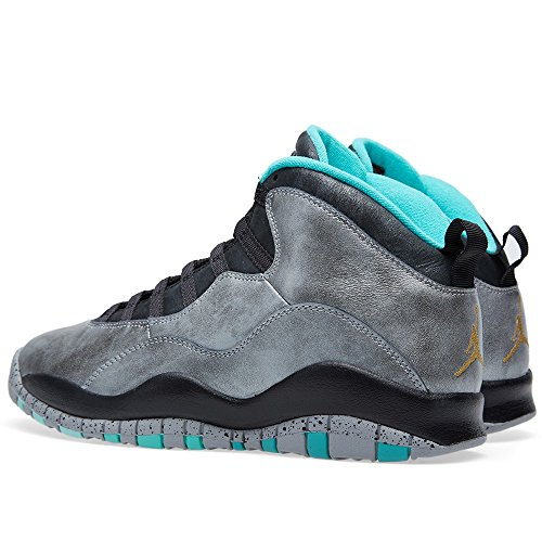 Nike Air Jordan 10 Retro 30th, Chaussures de Sport Homme dust/metallic gold-black-retro