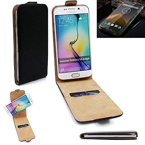 K-S-Trade Für Blackview BV 5000 Flipstyle Schutz Hülle 360° Smartphone Tasche, schwarz, Case Flip Cover für Blackview BV 5000