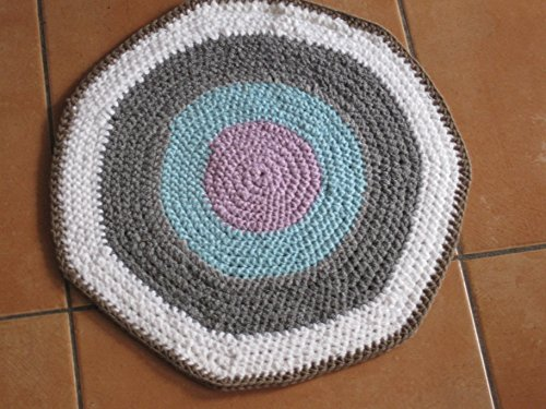 Häkelanleitung Teppich Läufer 45 Cm Durchmesser Ideal Auch Für