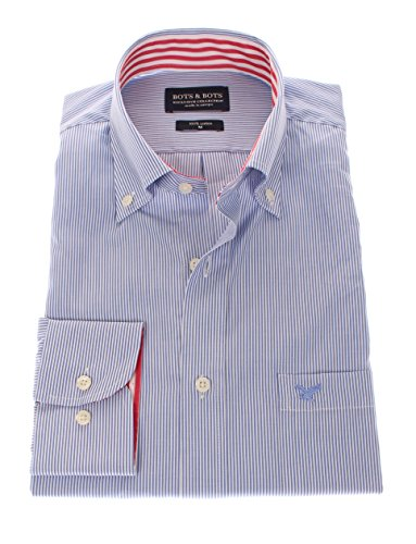 161003 - Bots & Bots Hemd - Exclusive Collection - 100% Baumwolle - Button Down - Normal Fit Hellblau