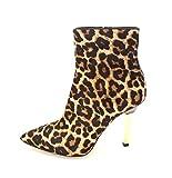 Michael Kors Sonja Pointed-Toe Boots, Cheetah, Size 7.0