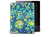 creatisto Sticker Apple iPad 2 | Tablet Aufkleber Folie Sticker Schutz-Hülle Design Case Gehäuse Schützen | Design Motiv Blue Flower Pattern