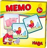 HABA 303759 - HABA-Lieblingsspiele – Memo Bauernhof | Memo-Spiel mit 16 extragroßen Karten | 8 Kartenpaare mit bunten Bauernhofmotiven | Spiel ab 2 Jahren