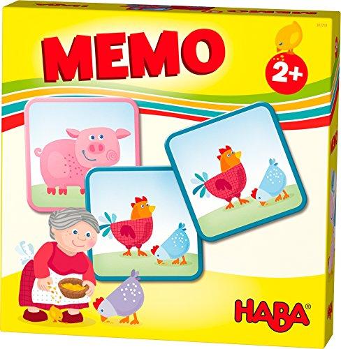 HABA 303759 - HABA-Lieblingsspiele - Memo Bauernhof | Memo-Spiel mit 16 extragroßen Karten | 8 Kartenpaare mit bunten Bauernhofmotiven | Spiel ab 2 Jahren