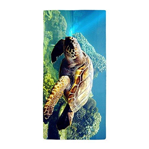 warrantyll Bohemian Frische Wasser Meer Schildkröte Dick Saugfähig Weich Bad Mikrofaser Strand Handtuch 50* 100cm # 5 (Tommy Bahamas-strand-handtücher)
