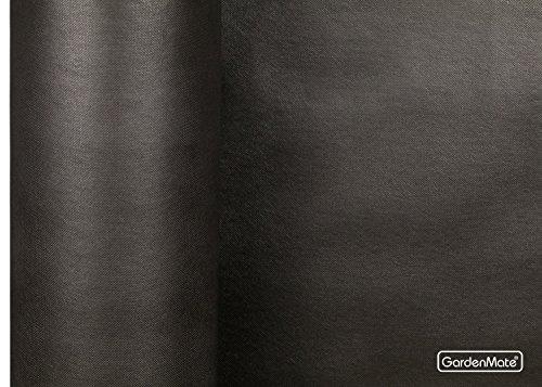 GardenMate 1x50m 150g/m² GARTENVLIES - Unkrautvlies ROLLE Extrem Reißfestes Unkrautschutzvlies - Hohe UV-Stabilisierung (1m x 50m = 50m2, Schwarz) -