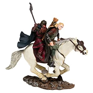Lord of the Rings Armies of Middle Earth: Legolas & Gimli on Horseback Figure 1/24 Scale 3