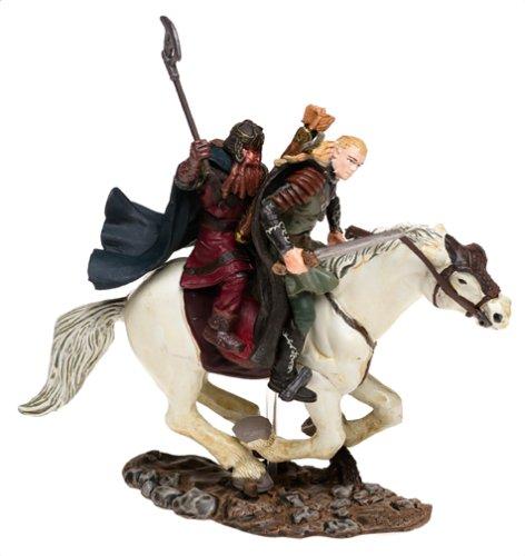 Lord of the Rings Armies of Middle Earth: Legolas & Gimli on Horseback Figure 1/24 Scale 1