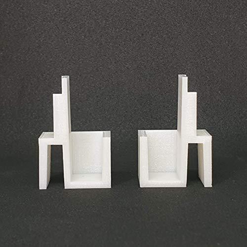 Lot de 3 paires de guides hauts pour placard Form Optimum à portes coulissantes